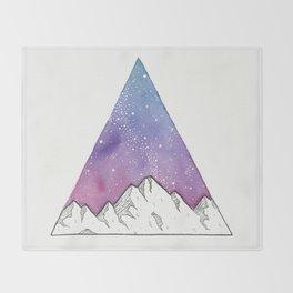 Triangle Mountains Throw Blanket