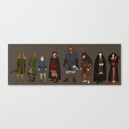 Character line up Canvas Print