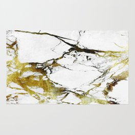 Gold-White Marble Impress Rug