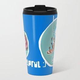 helpful fish bait earthworm cartoon Travel Mug