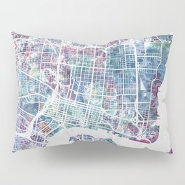 Jacksonville map Pillow Sham