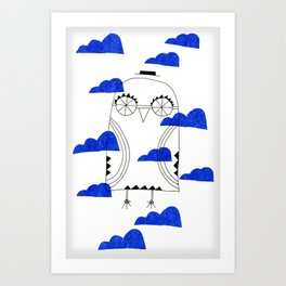 Blue Clouds Art Print