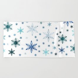 Frosty Abstract Beach Towel