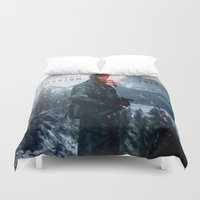 pain Duvet Covers featuring PHANTOM PAIN by Acus