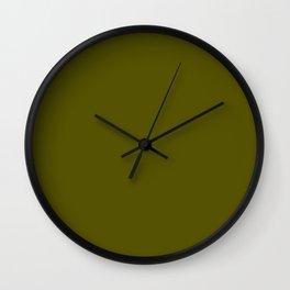 Monochrom 24 dark green Wall Clock