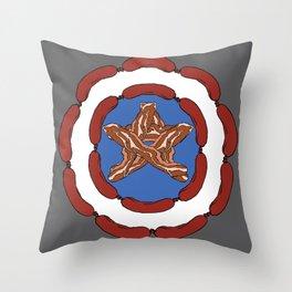 Capt. 'Merica Throw Pillow