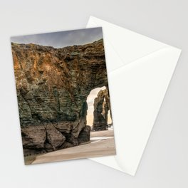 Playa de las Catedrales Beach in Galicia Stationery Cards