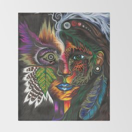 Medicine Woman Throw Blanket