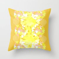 botanical Throw Pillows featuring Botanical by Ingrid Castile