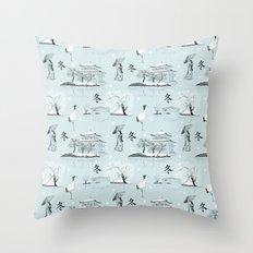 Japanese Toile Throw Pillow