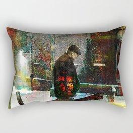 The guitarist Rectangular Pillow