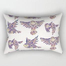 Owls in Flight – Mauve Palette Rectangular Pillow