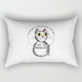Do not say cat, unless you have it in the sack Rectangular Pillow