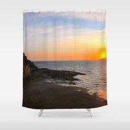 Seaside sunset Shower Curtain