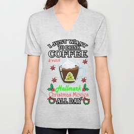 This Is My HallMark Christmas Movie Watching Shirt Unisex V-Neck