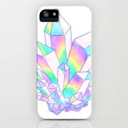 Watercolor Angel Aura Quartz iPhone Case