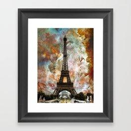 The Eiffel Tower - Paris France Art By Sharon Cummings Framed Art Print