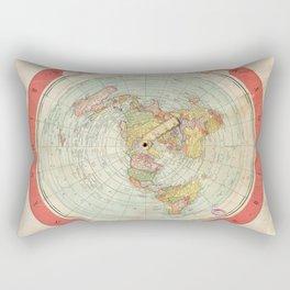 Flat Earth Rectangular Pillow