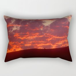 Fireball Sunset Over Remote Ridge In Kenya, Africa Rectangular Pillow