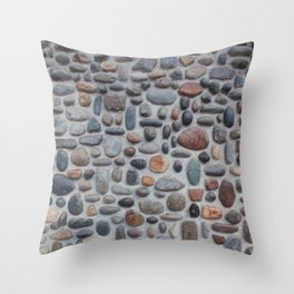 Pebble Wall Throw Pillow