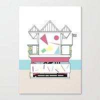 miami Canvas Prints featuring Miami by Elena Éper