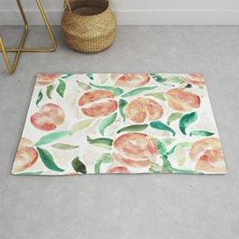 Watercolor Peaches Rug