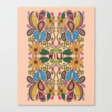 Bohemian Floral Peach version Canvas Print