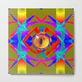 Dragon 's Eye Abstract Metal Print