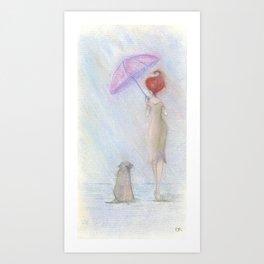 A man's best friend Art Print