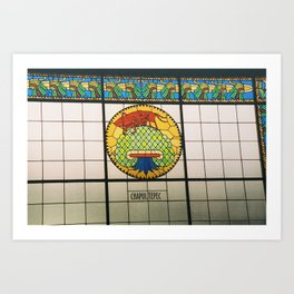 Chapultepec Castle Wall Stained Glass CDMX 35mm Film Art Print
