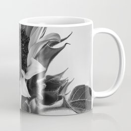 Sunflower Black & White Coffee Mug