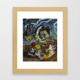 Monster ride. Framed Art Print