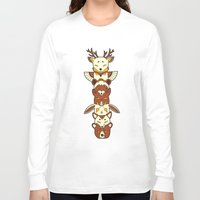 totem Long Sleeve T-shirts featuring Totem by Freeminds