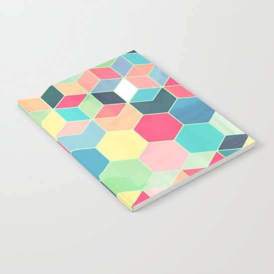 Yummy Summer Colour Honeycomb Pattern Notebook
