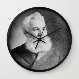Alexander Graham Bell, the telephone inventor Wall Clock