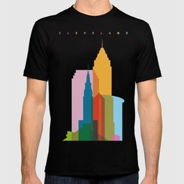 Shapes of Cleveland accurate to scale T-shirt