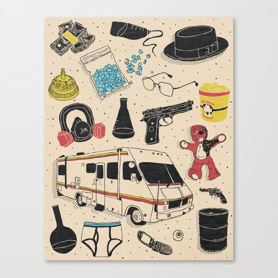 Artifacts: Breaking Bad Canvas Print