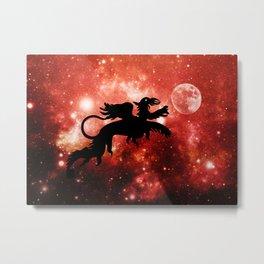 Dragon's moon Metal Print
