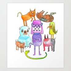 Animal Pyramid Art Print