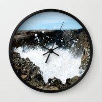 puerto rico Wall Clocks featuring Pozo de Jacinto, Isabela Puerto Rico by Silmagerie