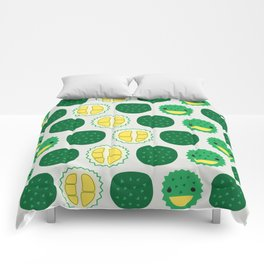 Dotty Durians II - Singapore Tropical Fruits Series Comforters