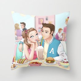 Love at Peggy's Throw Pillow