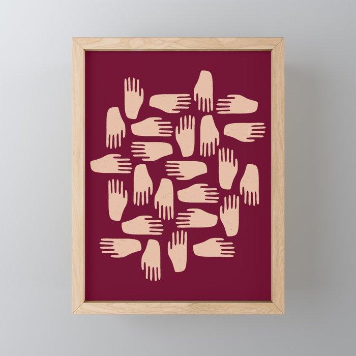 Hand in Hand Framed Mini Art Print