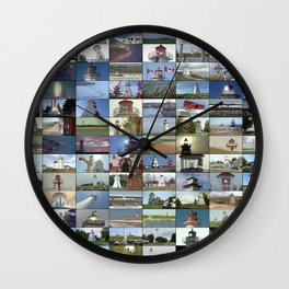 Lighthouses and Ranges of Prince Edward Island, Canada Wall Clock
