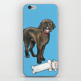 Milo the Poodle with his Monkey iPhone Skin