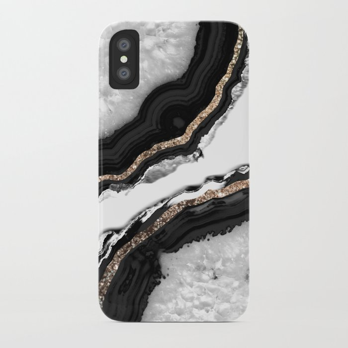 agate glitter glam #2 #gem #decor #art #society6 iphone case