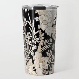 Black and White Flowers by Lika Ramati Travel Mug