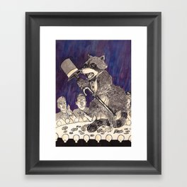 Dapper Raccoon Framed Art Print