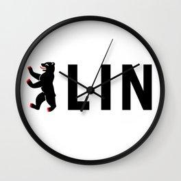 Berlin Bear Logo Design (German Bear) Wall Clock