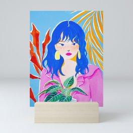 Plant Girl Mini Art Print